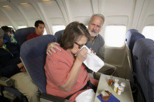 preventing sickness while flying